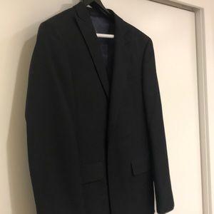 Men's 40R dark charcoal suit